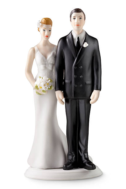 Wedding cake topper Wedding cake topper.Some similar pictures from my portfolio: bridegroom stock pictures, royalty-free photos & images