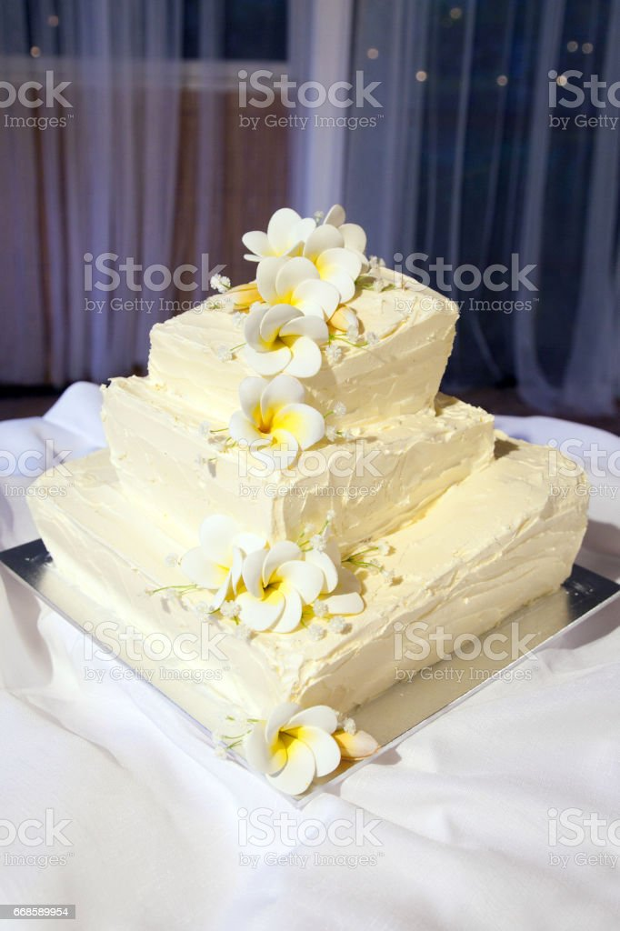 Wedding Cake With Marzipan Flower Icing Decorations Stock Photo Download Image Now Istock