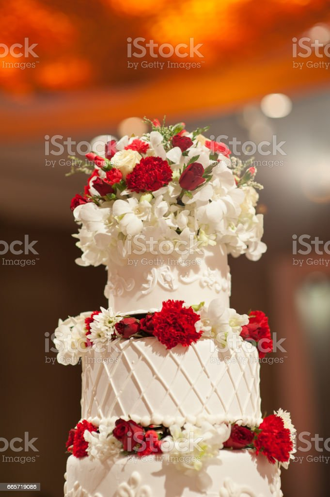 Photo Libre De Droit De Wedding Cakebeautiful Wedding
