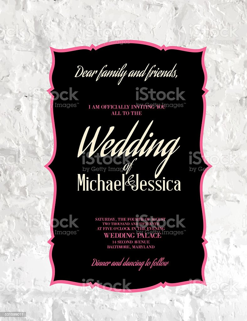 Wedding Card. stock photo