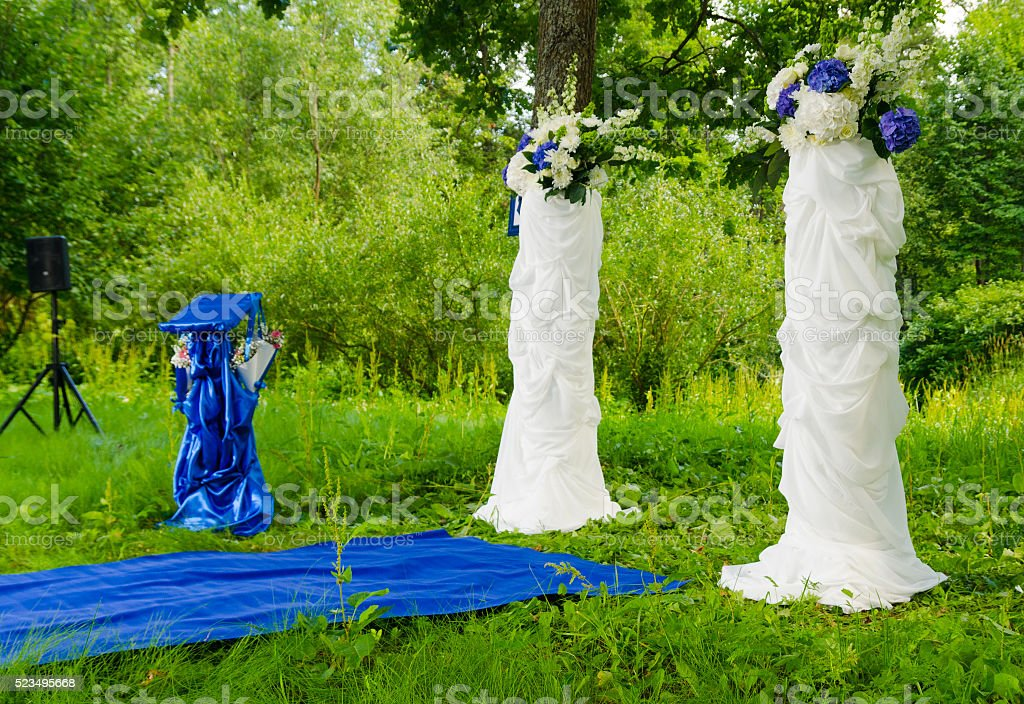 wedding carpet stock photo
