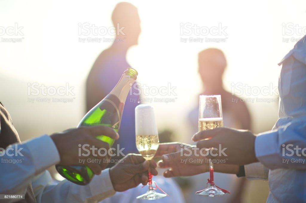 Wedding Celebration Champagne stock photo