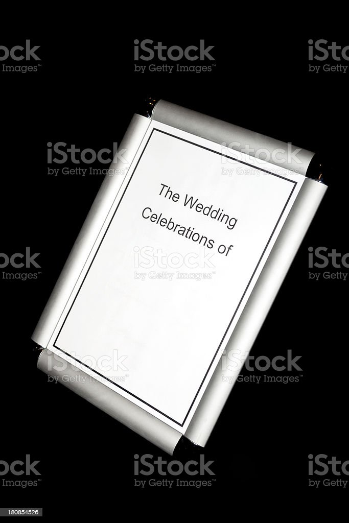 Wedding Celebrations Sign royalty-free stock photo
