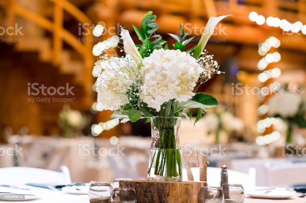 Wedding Centerpieces at Reception stock photo