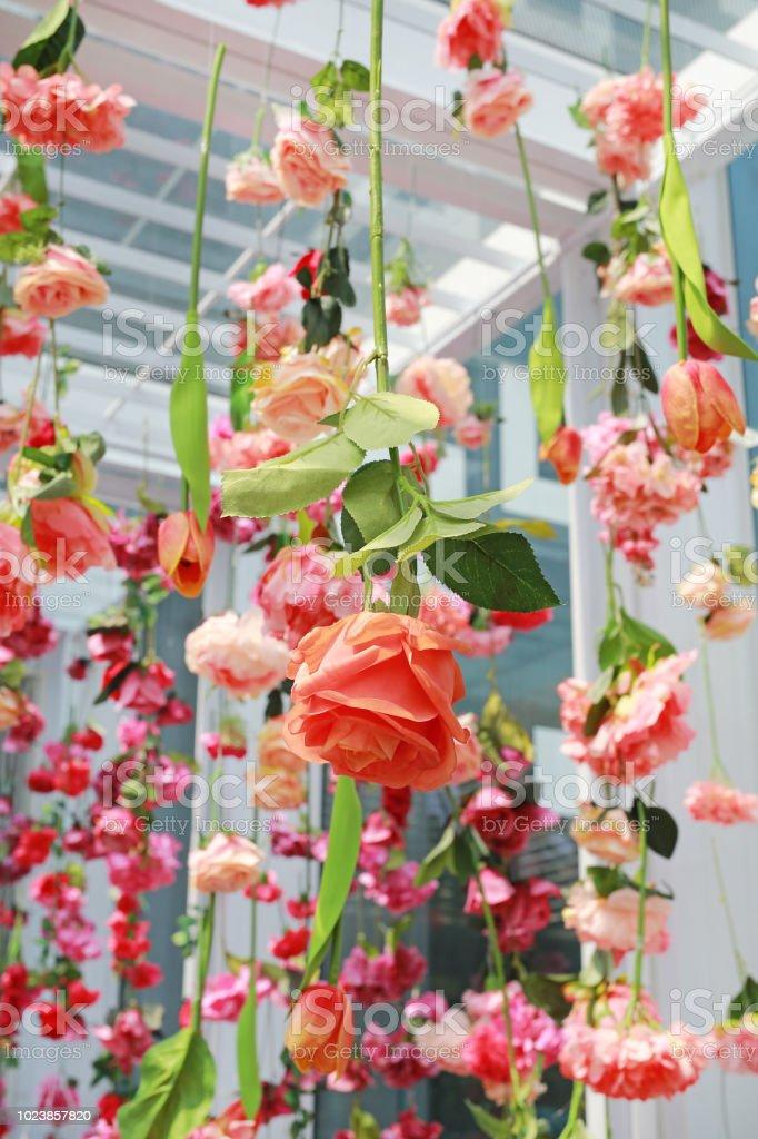 Hochzeit Zeremonie Dekoration Mit Vielen Künstlichen Blume Von Der