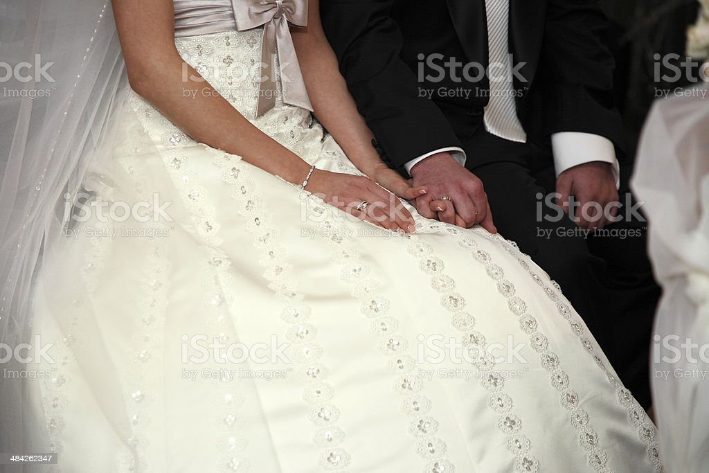 Wedding Ceremony in the Church royalty-free stock photo