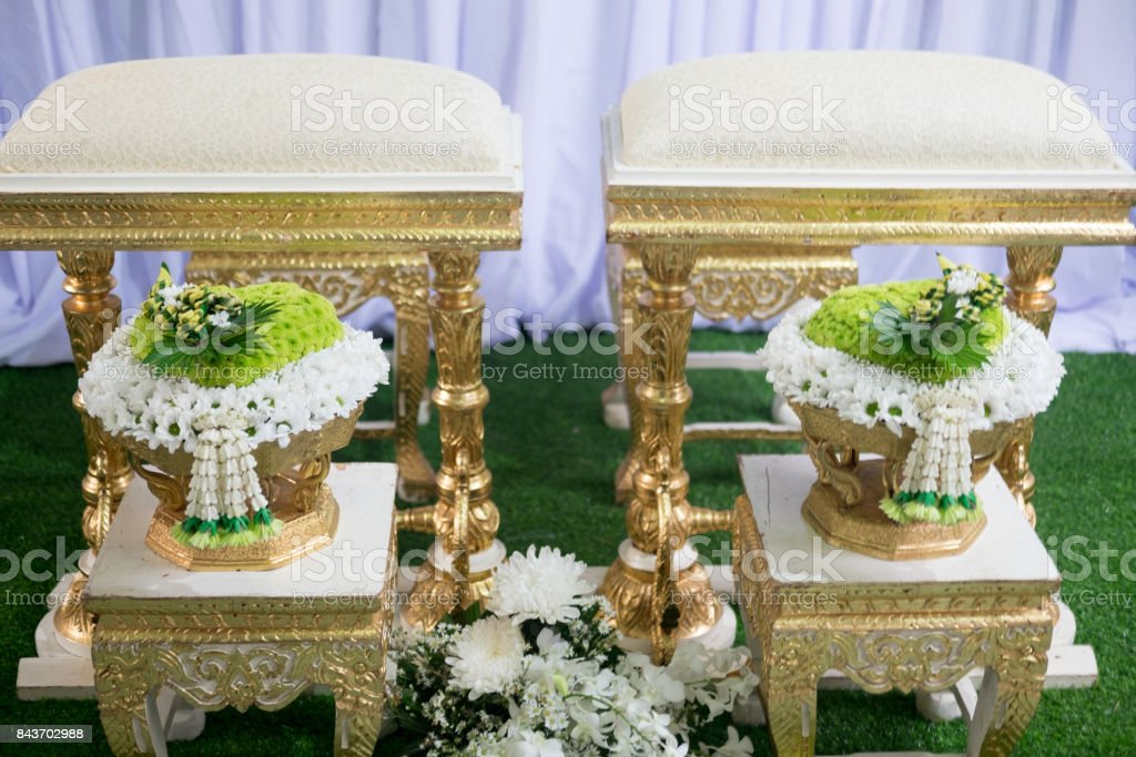 Wedding Ceremony Thailand Also called wedding ceremony watering relaunch. stock photo
