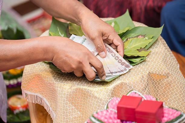 Wedding Ceremony Thailand bildbanksfoto