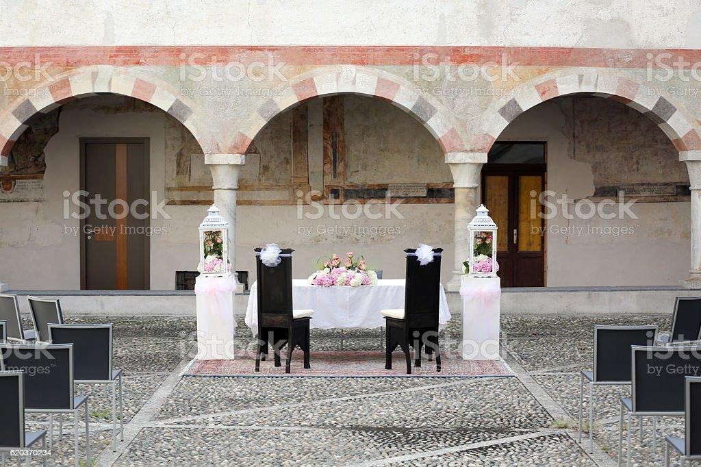 Wedding Chairs Covers zbiór zdjęć royalty-free