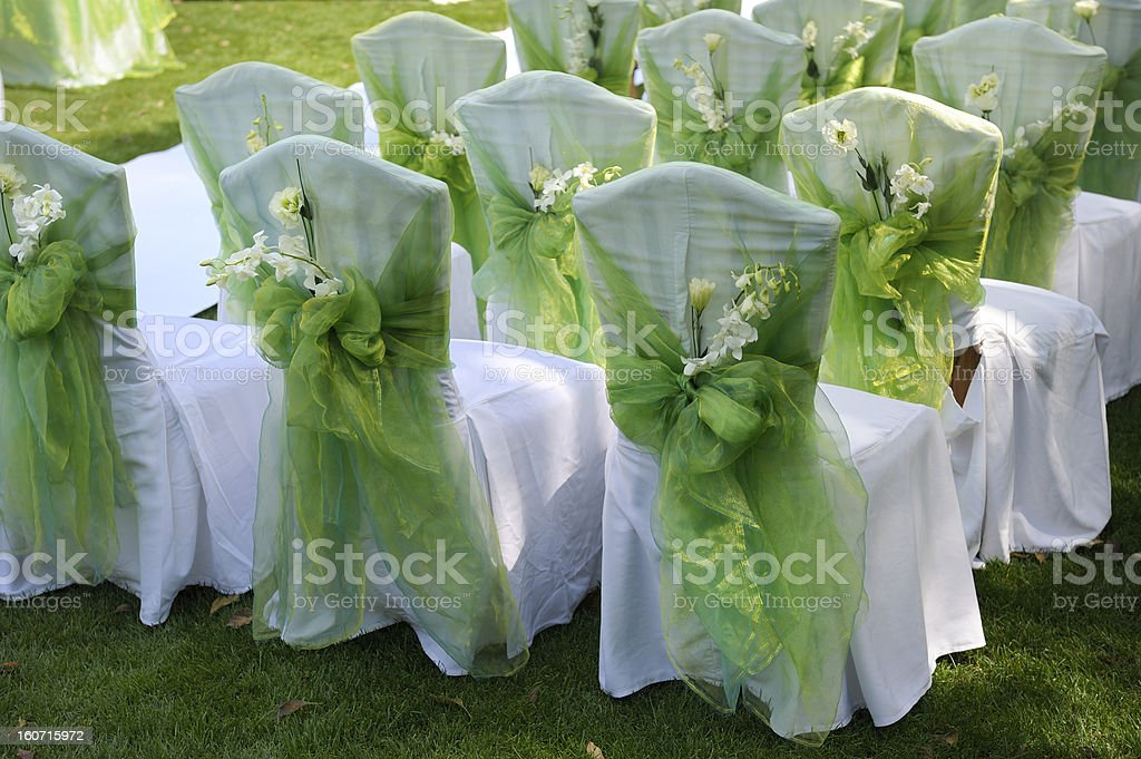 Wedding chairs royalty-free stock photo