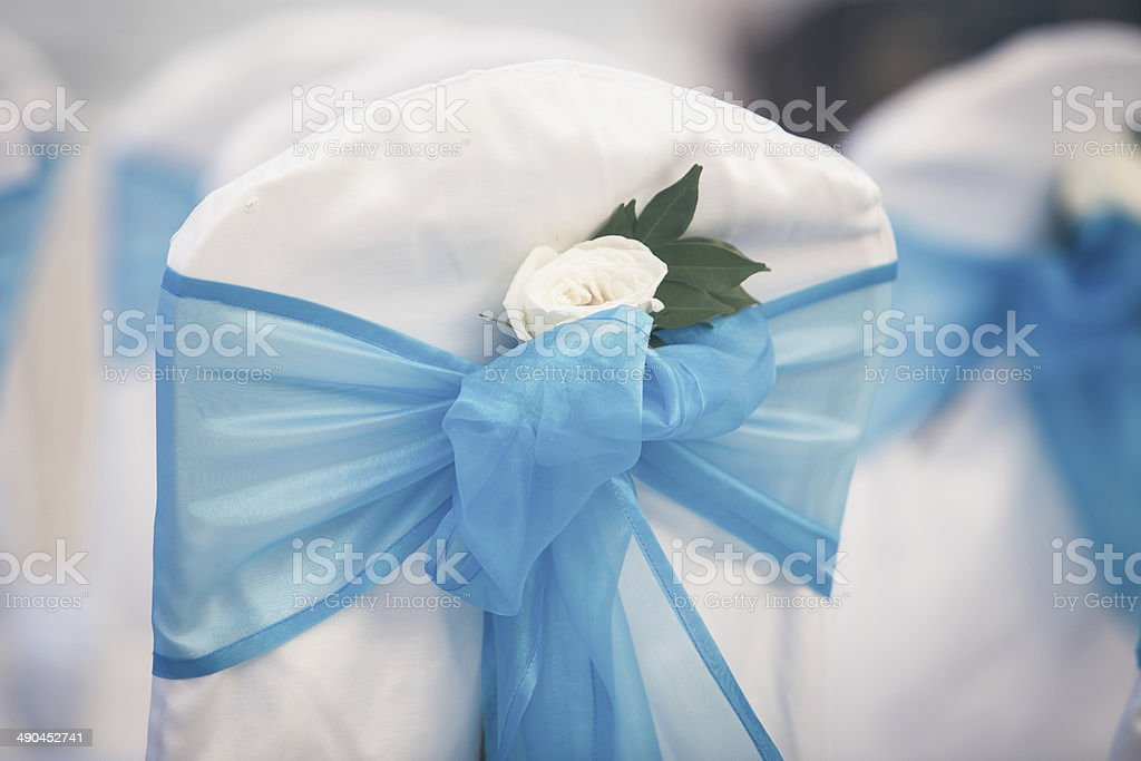Wedding chairs stock photo