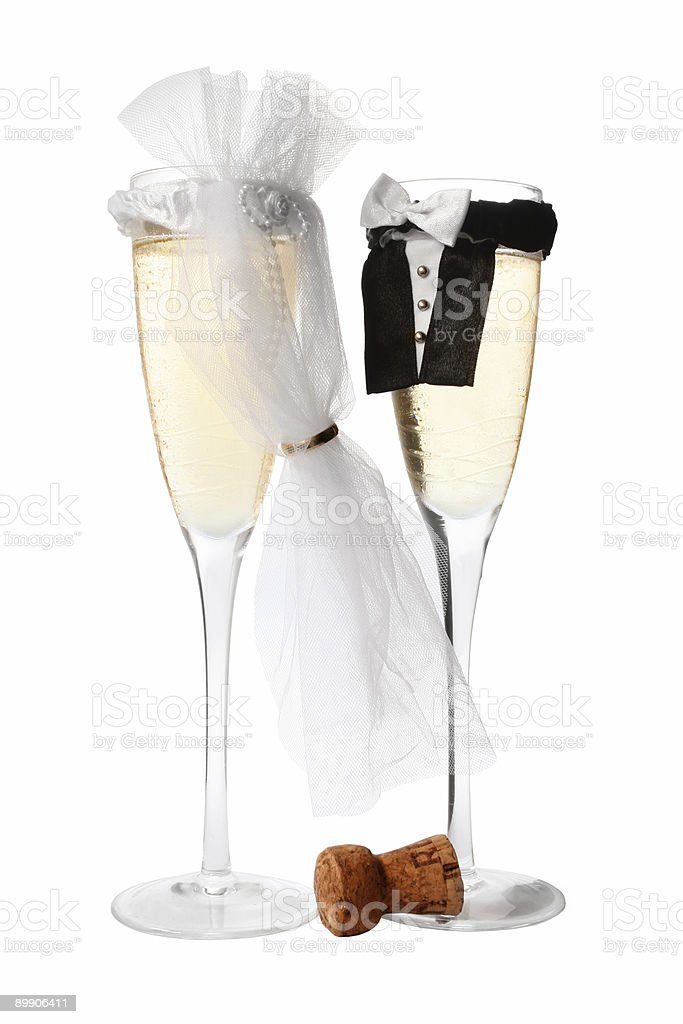 Wedding Champagne royalty-free stock photo