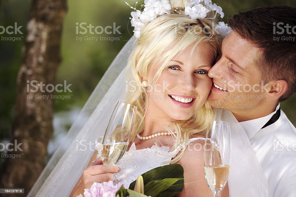 Wedding Champagne Toast royalty-free stock photo
