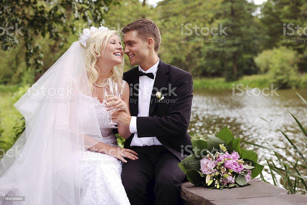Wedding Champagne Toast royalty-free stock photo