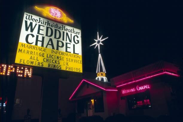 hochzeit kapelle in las vegas - heiratssprüche stock-fotos und bilder