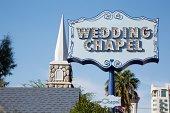 Wedding chapel sign in Las Vegas, Nevada