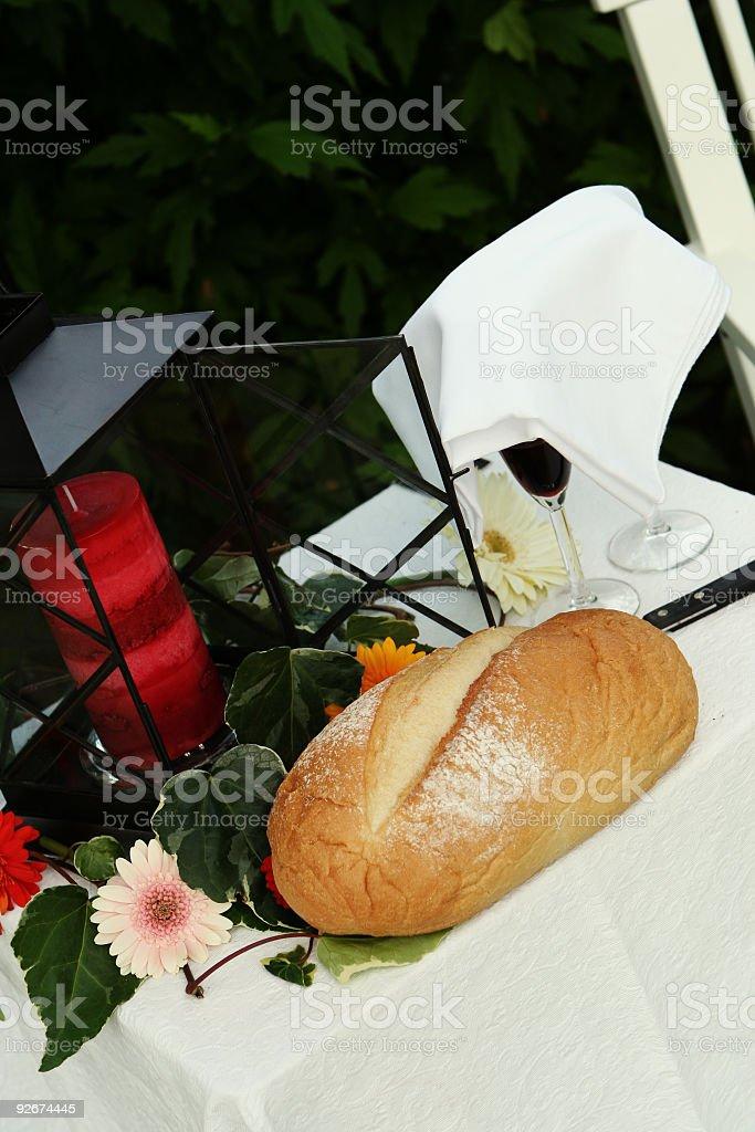 Wedding Communion Table royalty-free stock photo