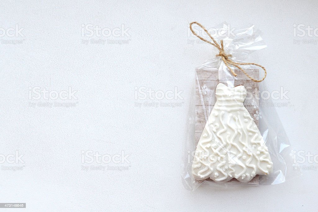 Wedding cookies stock photo