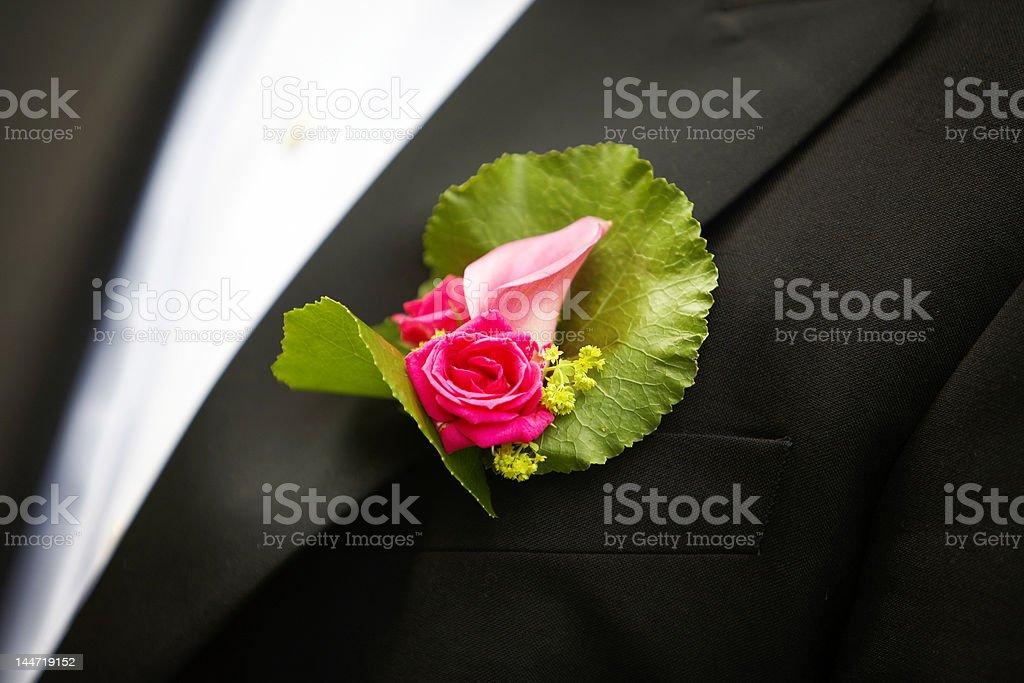 Wedding corsage stock photo