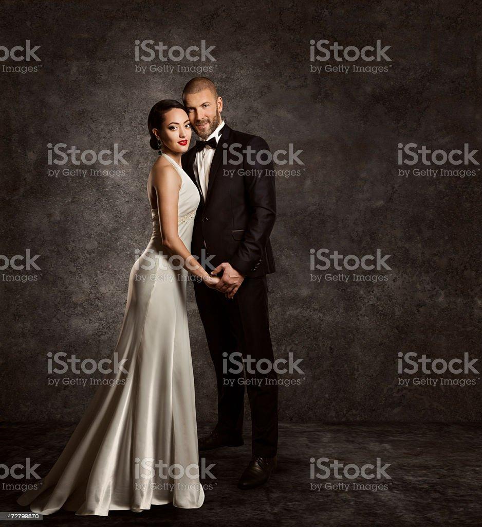Hochzeit Paar Braut Und Bräutigam Fashion Portrait Elegante ...