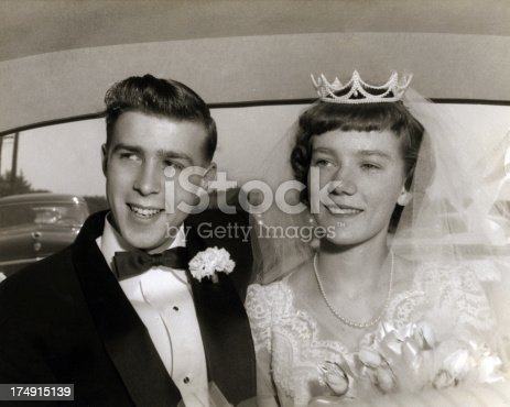 Vintage wedding of the 50's