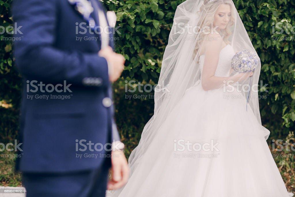 wedding couple Park Lizenzfreies stock-foto