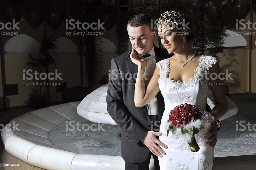 Wedding couple royalty-free stock photo