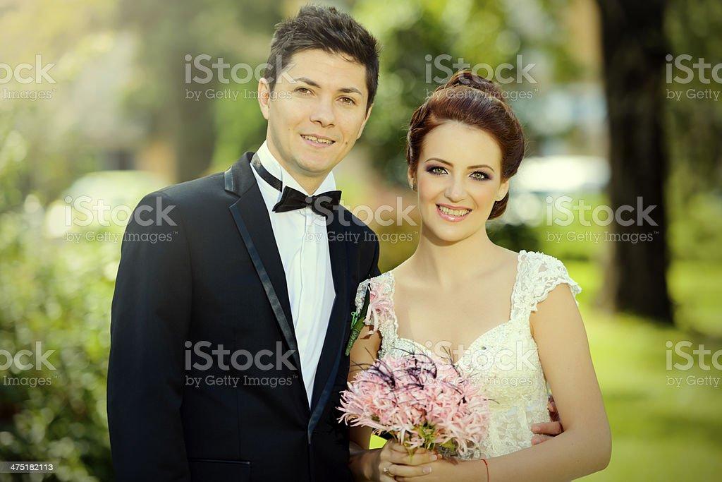 wedding couple portrait royalty-free stock photo