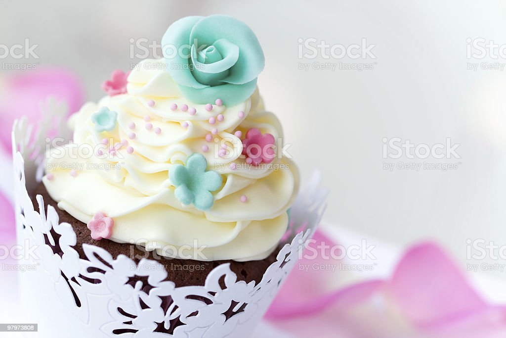 Wedding cupcake royalty-free stock photo