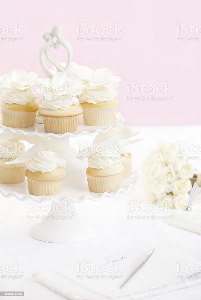 Wedding Cupcakes royalty-free stock photo