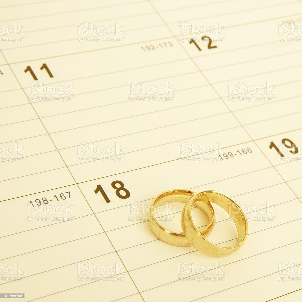 Wedding Date royalty-free stock photo