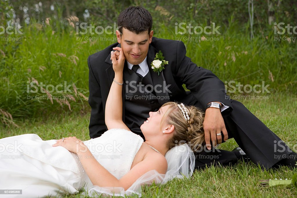 Wedding Day/ Bride and Groom royalty-free stock photo