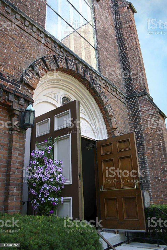 Wedding Day Church Doors royalty-free stock photo