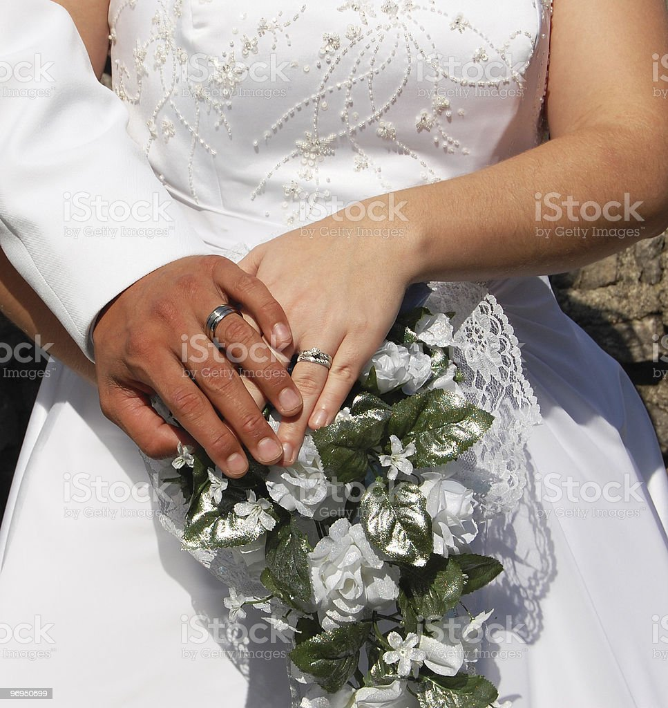 Wedding Day Couple royalty-free stock photo
