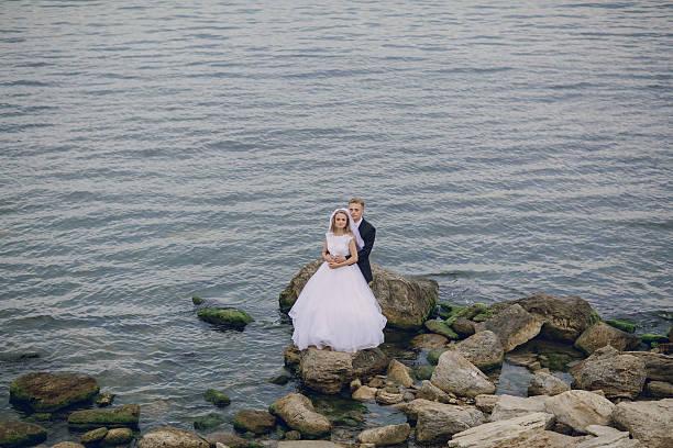 hochzeit in odessa - hochzeitsreise zypern stock-fotos und bilder