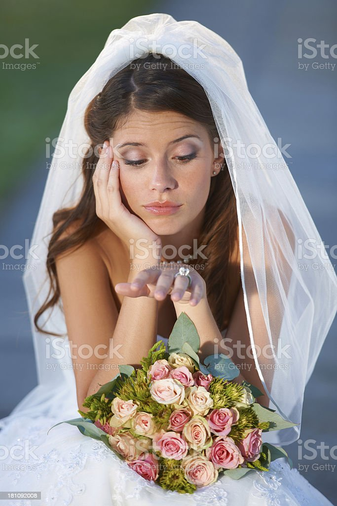 Wedding day jitters royalty-free stock photo