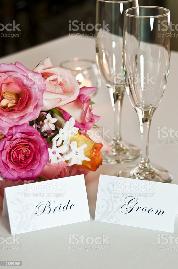 Wedding Day Place Cards royalty-free stock photo