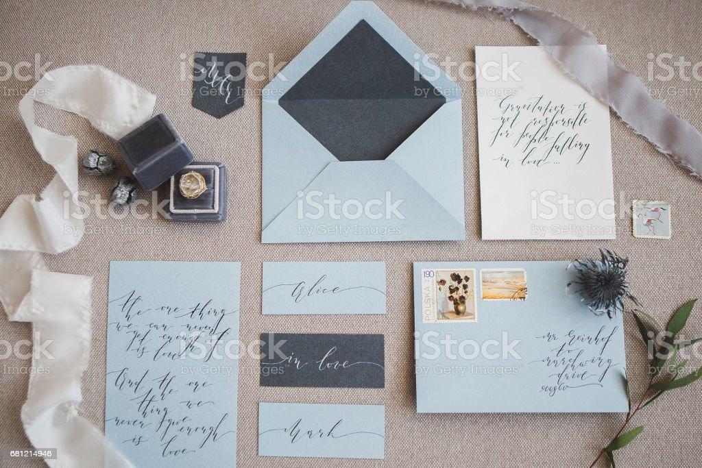結婚式の装飾・書道 ストックフォト