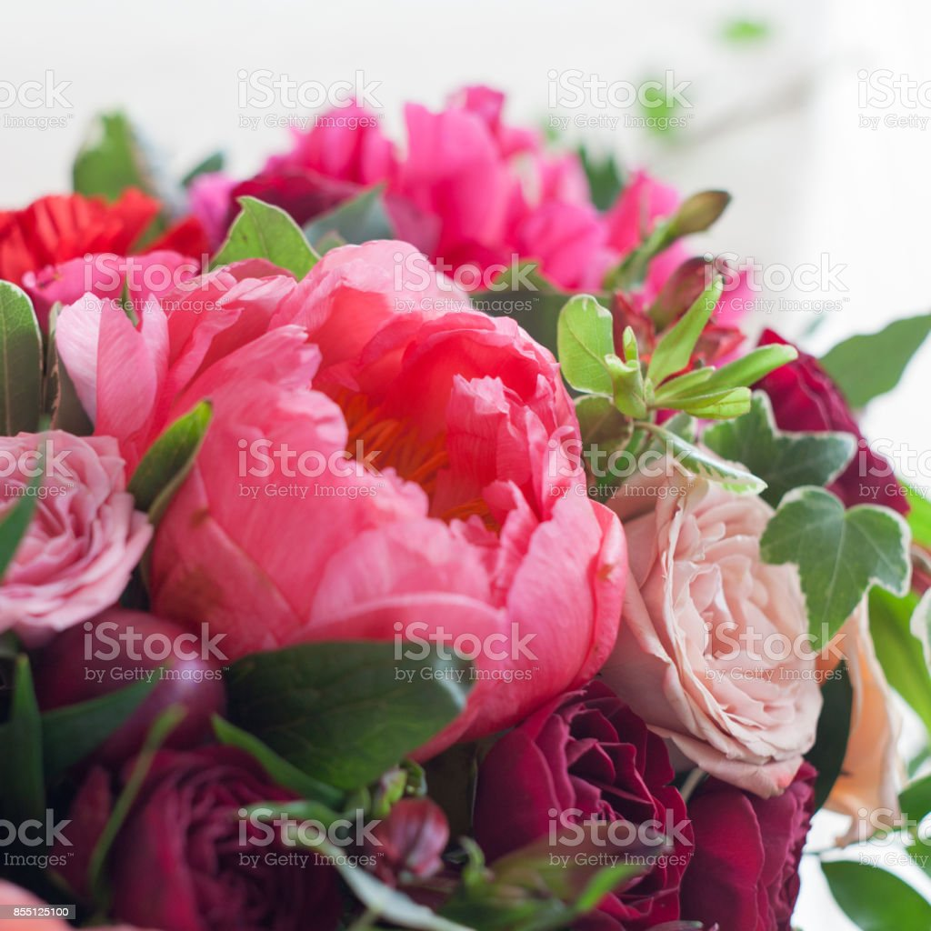 Wedding Decor Red Flowers In The Restaurant Table Setting Stock Photo Download Image Now Istock
