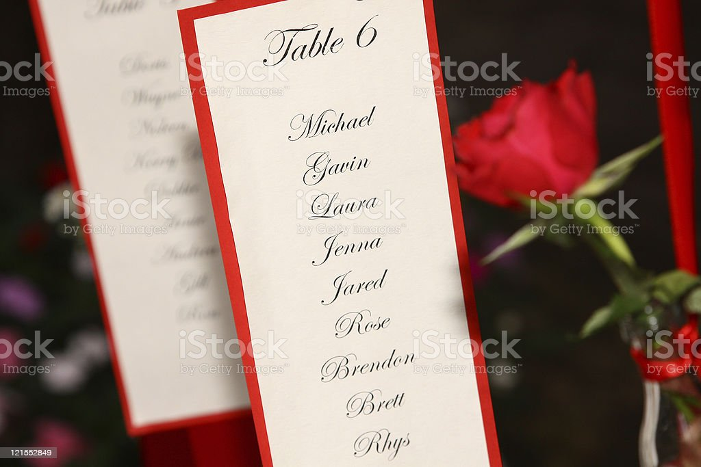 wedding decor, table card stock photo