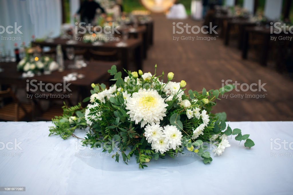 Wedding Decor Table For The Newlyweds Outdoor Wedding