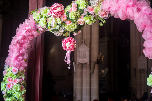 wedding decoration in the church