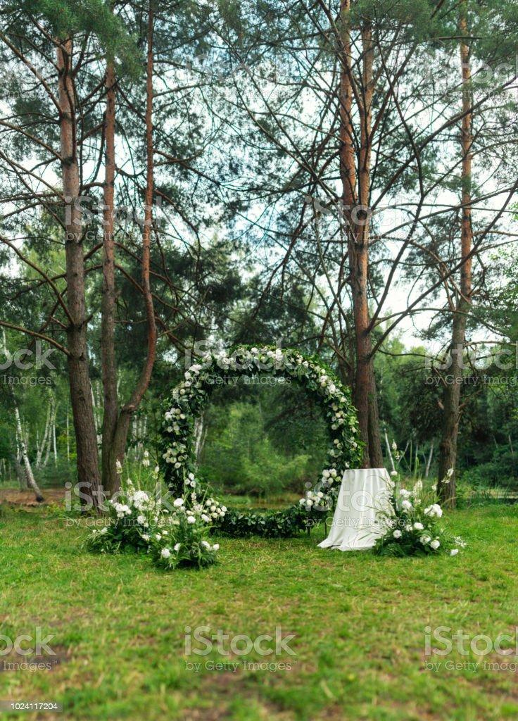 Photo libre de droit de Décoration De Mariage Dans Le Jardin ...