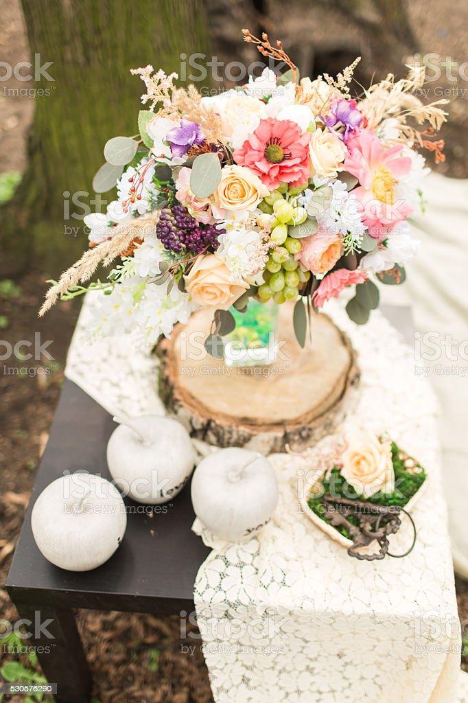 Wesela Dekoracje W Stylu Boho Kwiat Skład Stockowe Zdjęcia I