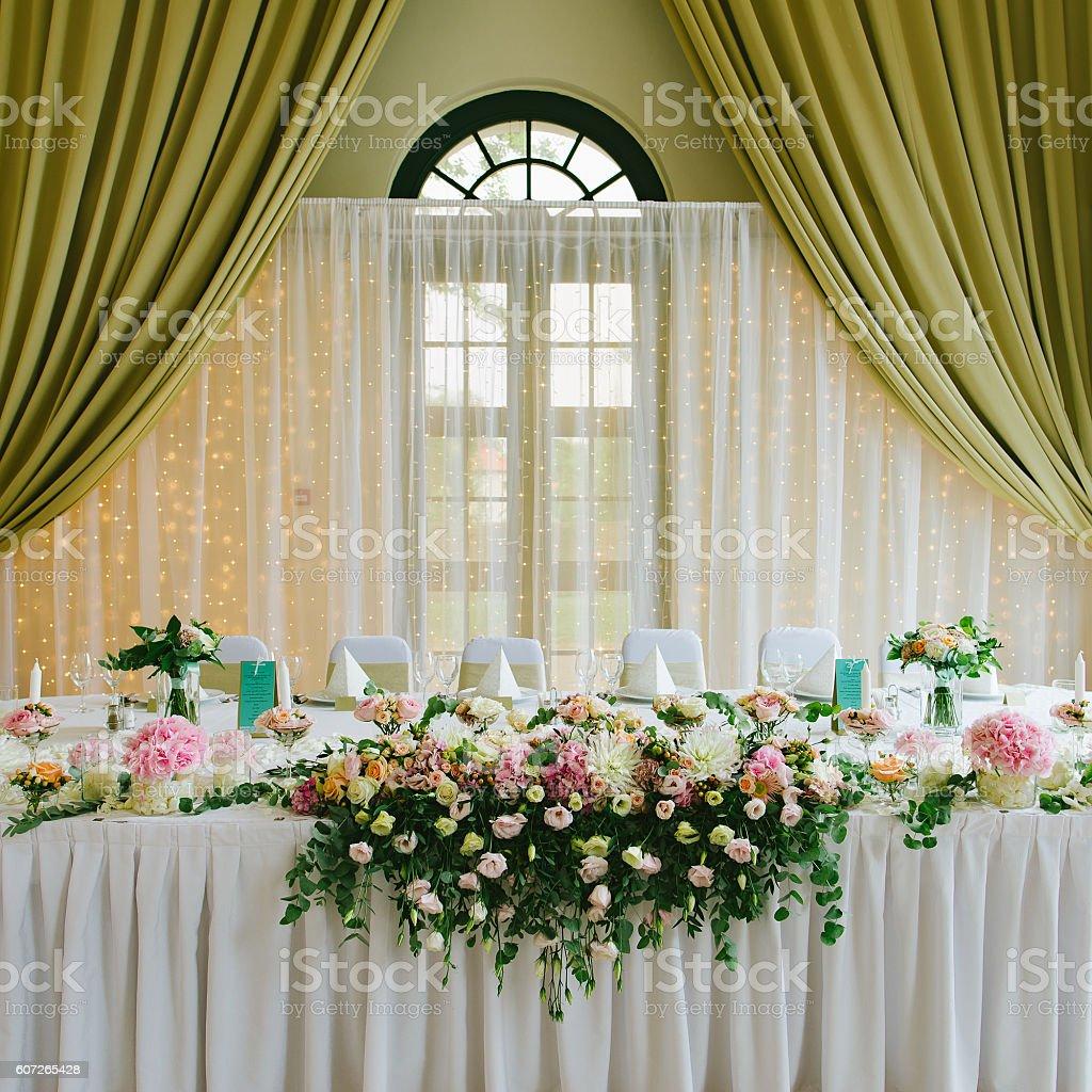 Wedding decoration. stock photo
