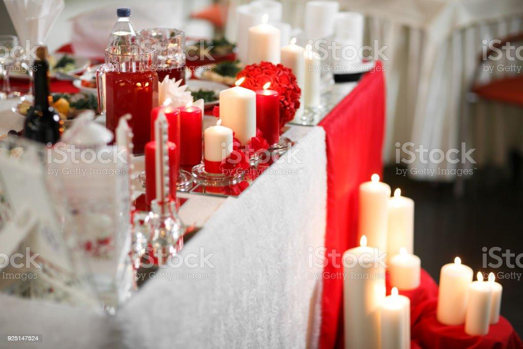 Hochzeitsdekoration Tisch Fur Ein Romantisches Dinner Oder Empfang