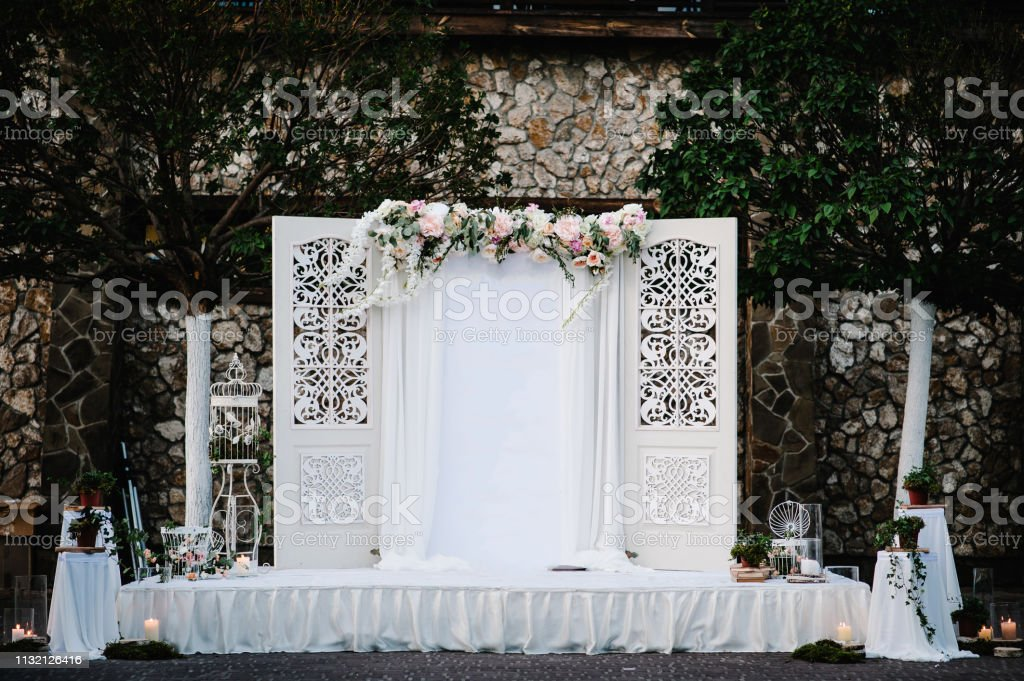 Wedding Decorations In Luxury Ceremony Arch For Wedding Ceremony A