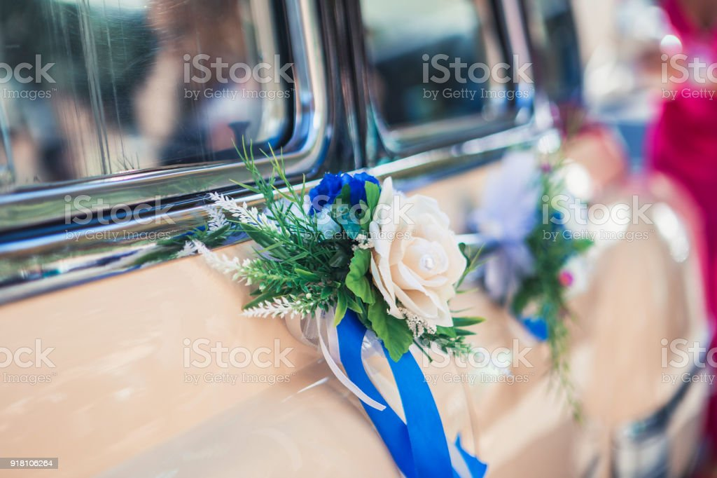 Wedding Decorations On The Car Stock Photo More Pictures Of