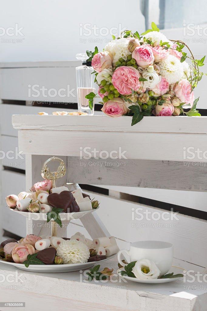 Wedding details stock photo