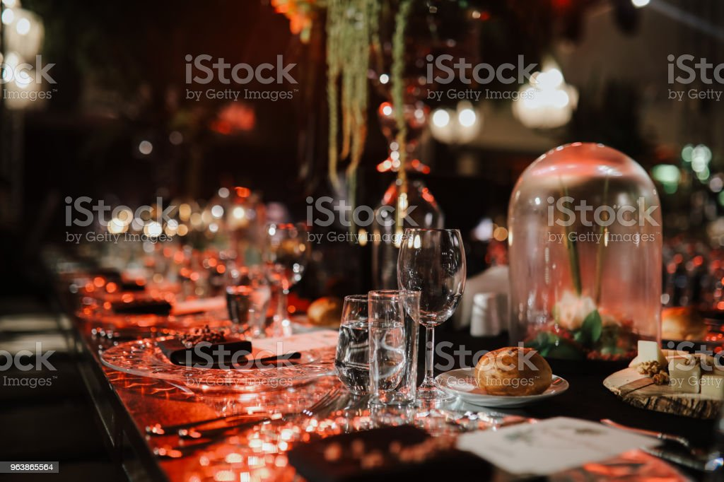 Wedding Dinner Celebration - Royalty-free Arrangement Stock Photo